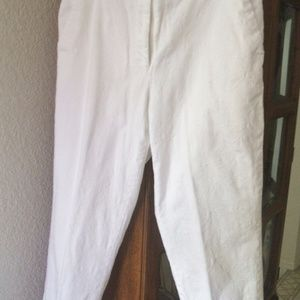 EP PRO WHITE EMBROIDERED CROP PANT SZ 8